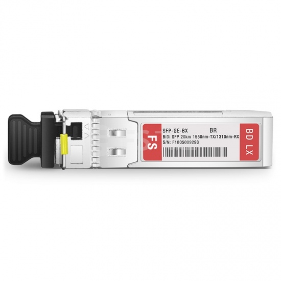 博科(Brocade)兼容E1MG-1G-BXD-20 BiDi SFP千兆单纤双向光模块1550nm-TX/1310nm-RX 20km