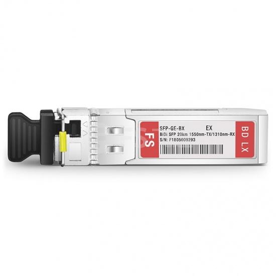 极进(Extreme)兼容MGBIC-BX20-U-1550 BiDi SFP千兆单纤双向光模块  1550nm-TX/1310nm-RX 20km