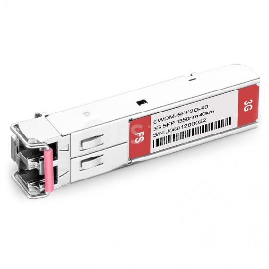 飞速(FS) 3G-SD/HD/3G-SDI MSA 数字视频 CWDM SFP光模块 1350nm 40km  收发一体 病理式
