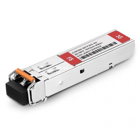 飞速(FS) 3G-SD/HD/3G-SDI MSA 数字视频 CWDM SFP光模块 1570nm 40km  收发一体 病理式