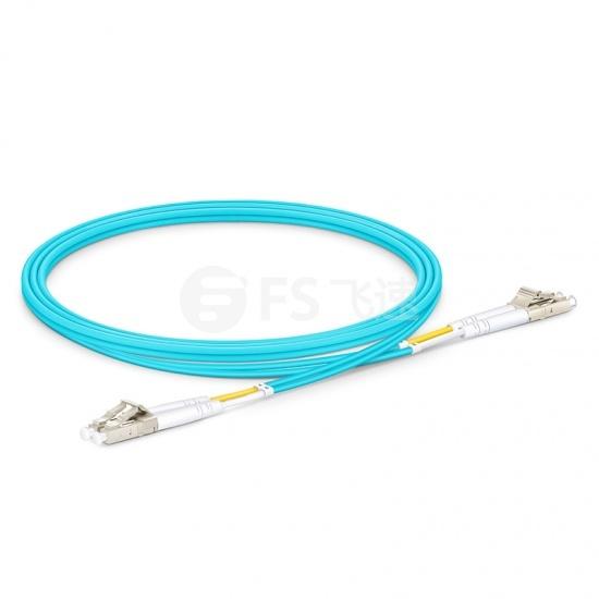 1M LC/UPC-LC/UPC万兆双工多模OM4光纤跳线-2.0mm PVC(OFNR)