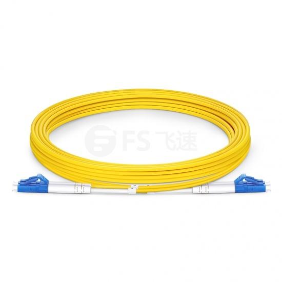 3m LC/UPC-LC/UPC双工单模OS2光纤跳线-2.0mm PVC(OFNR)