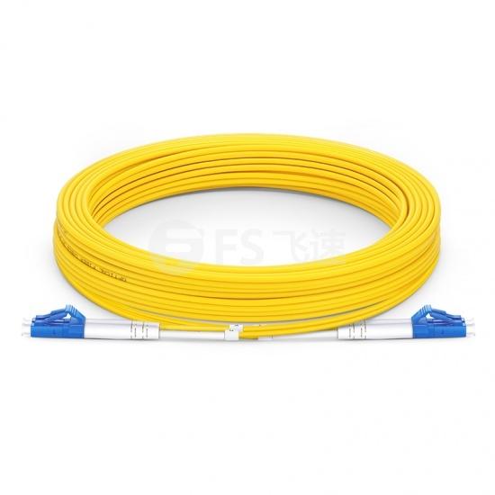 10m LC/UPC-LC/UPC双工单模OS2光纤跳线-2.0mm PVC(OFNR)