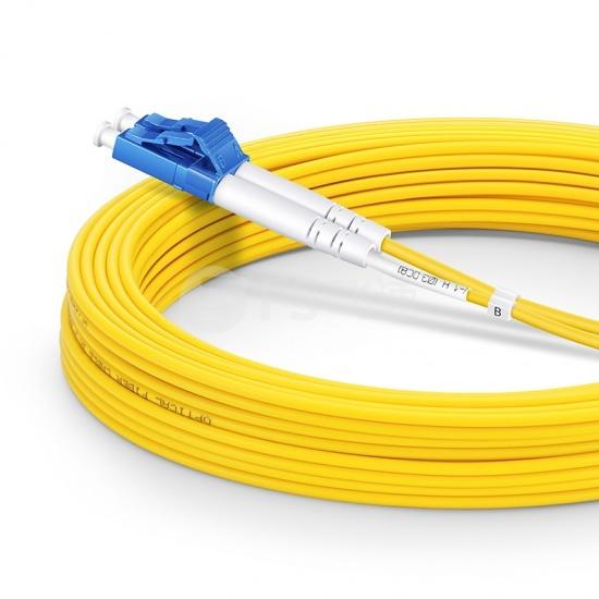 15m LC/UPC-LC/UPC双工单模OS2光纤跳线-2.0mm PVC(OFNR)