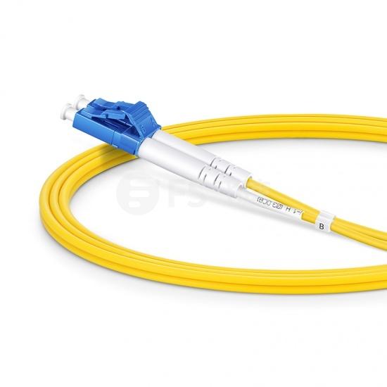 1m LC /UPC-SC /UPC双工单模OS2光纤跳线-2.0mm PVC(OFNR)