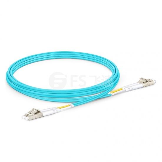 2M LC/UPC-LC/UPC万兆双工多模OM4光纤跳线-2.0mm PVC(OFNR)