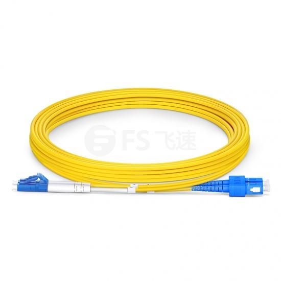 3m LC /UPC-SC /UPC双工单模OS2光纤跳线-2.0mm PVC(OFNR)