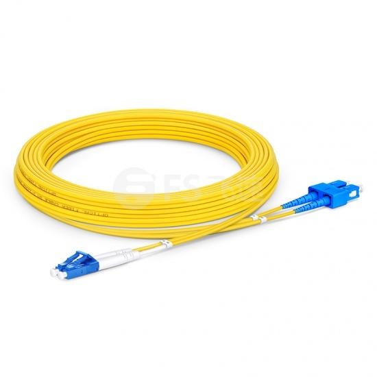 5m LC /UPC-SC /UPC双工单模OS2光纤跳线-2.0mm PVC(OFNR)