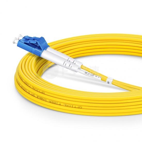 7m LC /UPC-SC /UPC双工单模OS2光纤跳线-2.0mm PVC(OFNR)