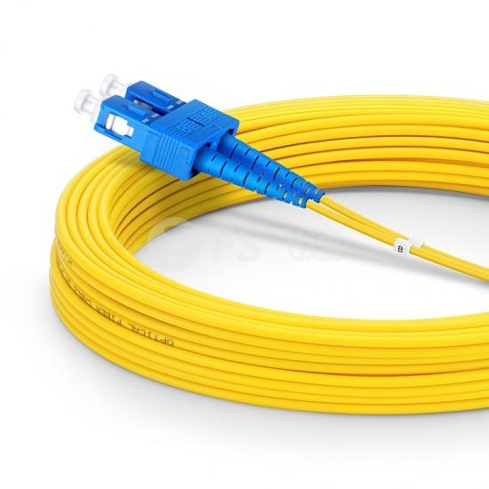 30m LC /UPC-SC /UPC双工单模OS2光纤跳线-3.0mm PVC(OFNR)