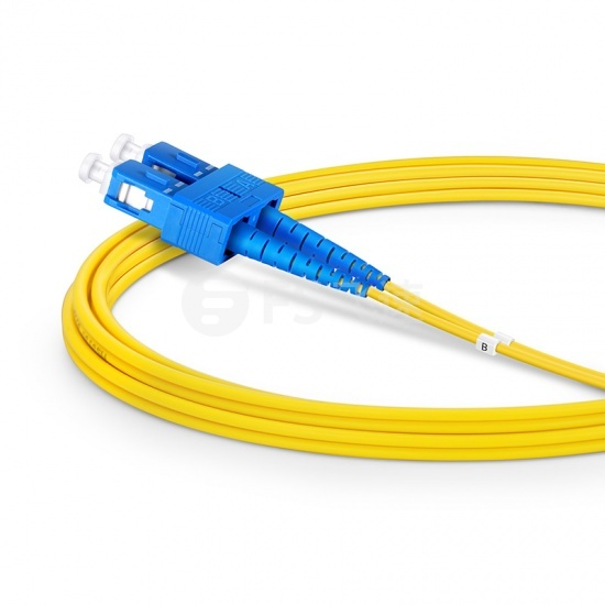 2m SC /UPC-SC /UPC双工单模OS2光纤跳线-2.0mm PVC(OFNR)