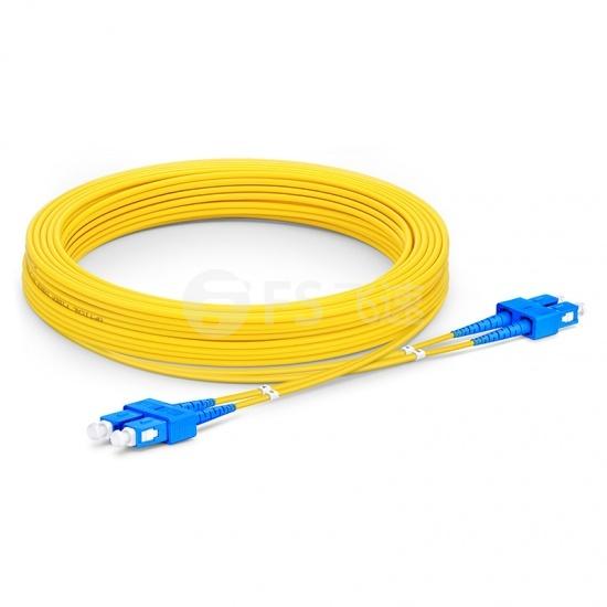 10m SC /UPC-SC /UPC双工单模OS2光纤跳线-2.0mm PVC(OFNR)