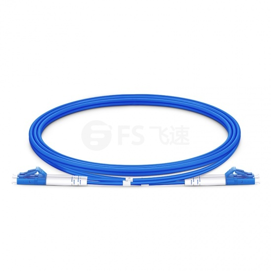 1M LC/UPC-LC/UPC双工单模铠装光纤跳线 - 3.0mm PVC(OFNR)