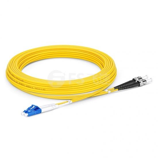 5m LC /UPC-ST /UPC双工单模OS2光纤跳线-2.0mm PVC(OFNR)