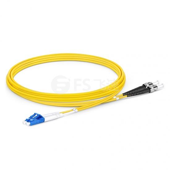 2m LC /UPC-ST /UPC双工单模OS2光纤跳线-2.0mm PVC(OFNR)