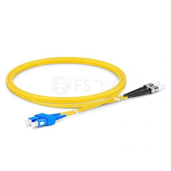1m SC /UPC-ST /UPC双工单模OS2光纤跳线-2.0mm  PVC(OFNR)