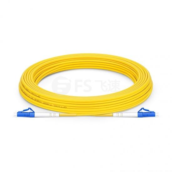 20m LC/UPC-LC/UPC单工单模OS2光纤跳线-2.0mm PVC(OFNR)