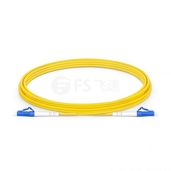 3m LC/UPC-LC/UPC单工单模OS2光纤跳线-2.0mm PVC(OFNR)