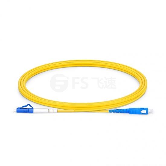 2m LC/UPC-SC/UPC单工单模OS2光纤跳线-2.0mm PVC(OFNR)