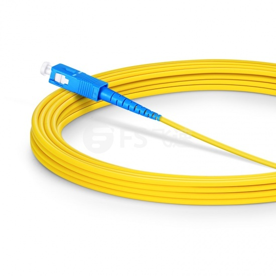 7m SC/UPC-SC/UPC单工单模OS2光纤跳线-2.0mm PVC(OFNR)