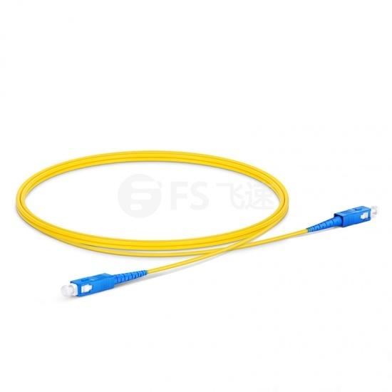 1m SC/UPC-SC/UPC单工单模OS2光纤跳线-2.0mm PVC(OFNR)