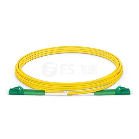2m LC/APC-LC/APC双工单模OS2光纤跳线-2.0mm PVC(OFNR)