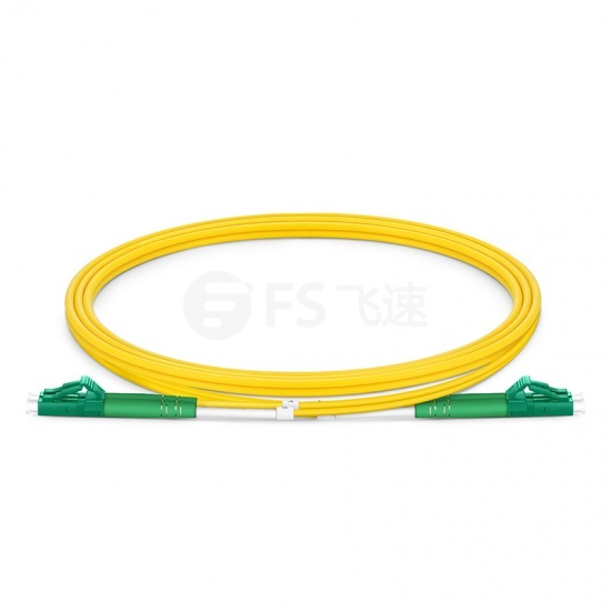 1m LC/APC-LC/APC双工单模OS2光纤跳线-2.0mm PVC(OFNR)