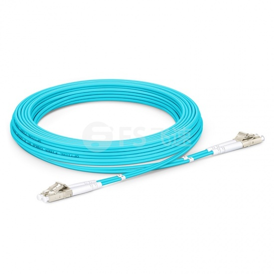 5M LC/UPC-LC/UPC 万兆双工多模OM4铠装光纤跳线 3.0mm PVC(OFNR)