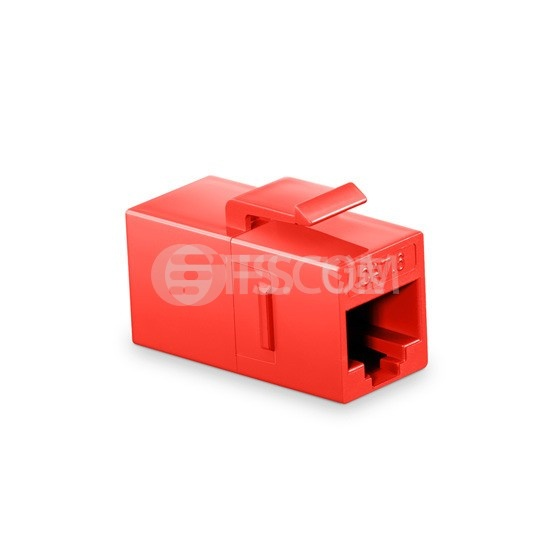 Cat6六类非屏蔽(UTP)网络直通模块 - 红色
