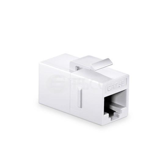 Cat5e超五类非屏蔽(UTP)网络直通模块 - 白色