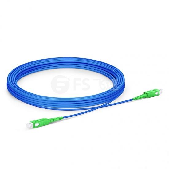 30M SC/APC-SC/APC单工单模铠装光纤跳线 - 3.0mm PVC(OFNR)