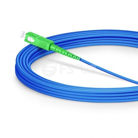 20M SC/APC-SC/APC单工单模铠装光纤跳线 - 3.0mm PVC(OFNR)
