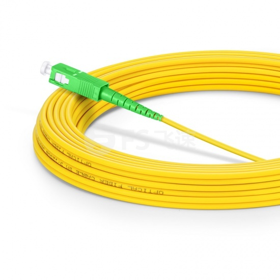 15m LC/APC-SC/APC单工单模OS2光纤跳线-2.0mm PVC(OFNR)