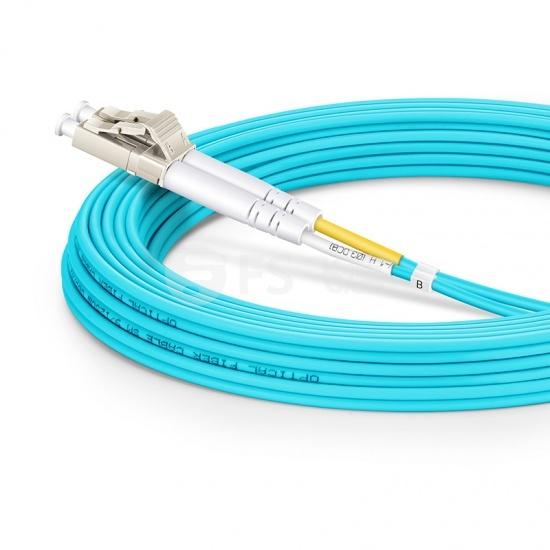 5m LC/UPC-SC/UPC万兆双工多模OM3光纤跳线-2.0mm PVC(OFNR)