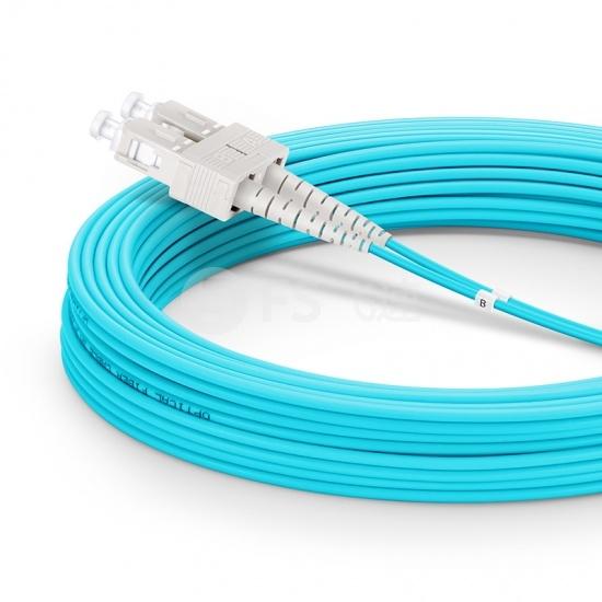 10m SC/UPC-SC/UPC万兆双工多模OM3光纤跳线-2.0mm PVC(OFNR)