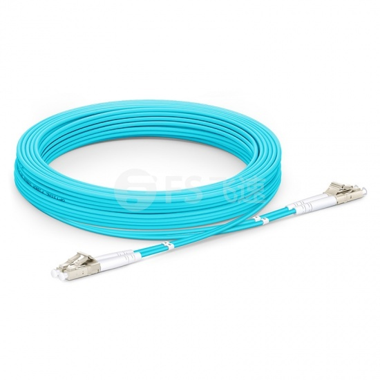 10M LC/UPC-LC/UPC 万兆双工多模OM3铠装光纤跳线 3.0mm PVC(OFNR)