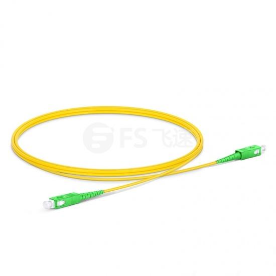 1m SC/APC-SC/APC单工单模OS2光纤跳线-2.0mm PVC(OFNR)