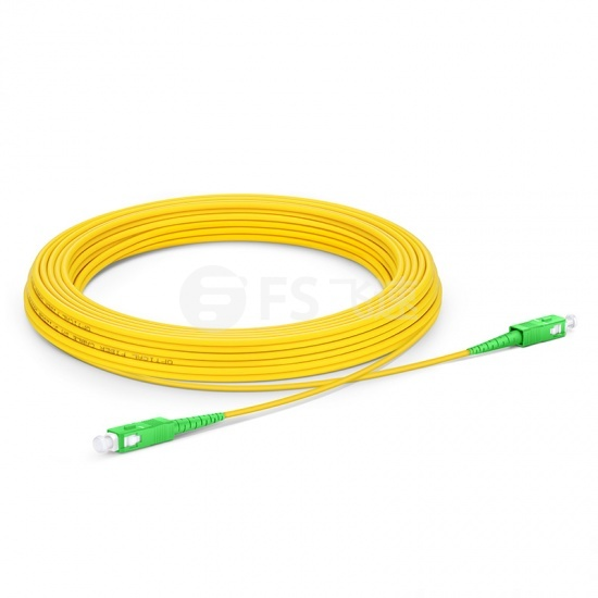 30m SC/APC-SC/APC单工单模OS2光纤跳线-2.0mm PVC(OFNR)