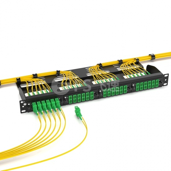 6×SC/APC 双工单模光纤适配器面板