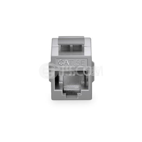 Cat5e超五类非屏蔽(UTP)网络直通模块 - 灰色