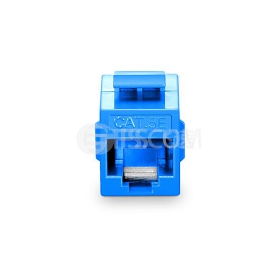 Cat5e超五类非屏蔽(UTP)网络直通模块 -蓝色