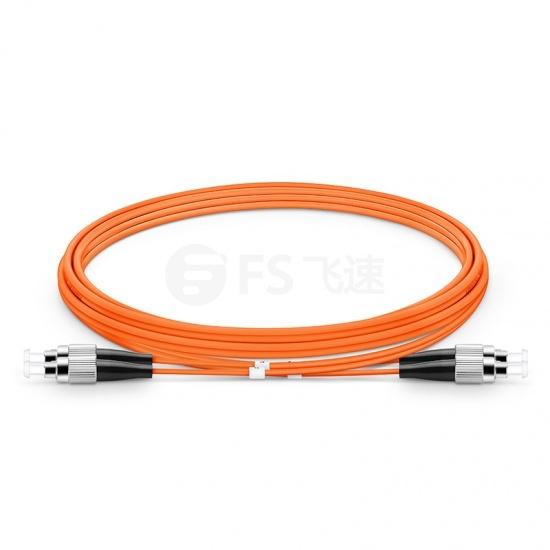 2M FC/UPC-FC/UPC双工多模OM1光纤跳线- 2.0mm PVC (OFNR)