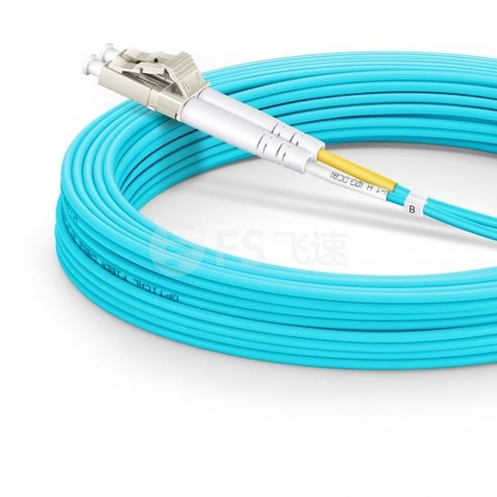 15m LC/UPC-LC/UPC 万兆双工多模OM3光纤跳线 - 2.0mm LSZH