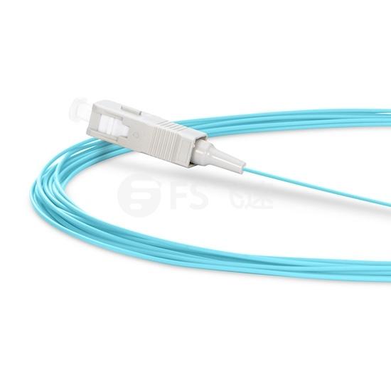 2M SC/UPC 单工多模(OM3 ) 50/125 光纤尾纤-0.9mm PVC外护套