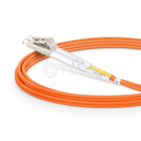 2m LC/UPC-LC/UPC双工多模OM2光纤跳线-2.0mm PVC(OFNR)