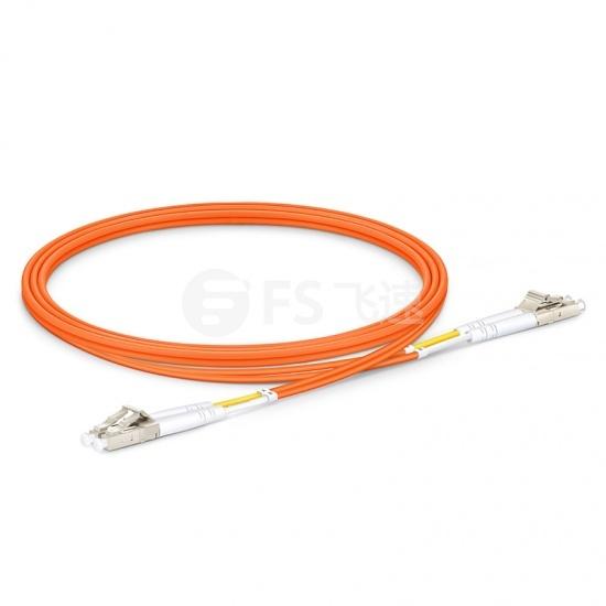 1m LC/UPC-LC/UPC 双工多模OM2光纤跳线 - 2.0mm PVC(OFNR)