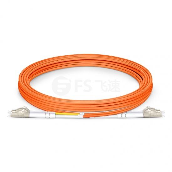 3m LC/UPC-LC/UPC双工多模OM1光纤跳线- 2.0mm PVC(OFNR)