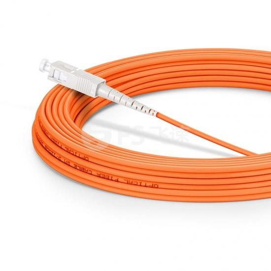 10m SC/UPC-SC/UPC单工多模OM1光纤跳线-2.0mm PVC(OFNR)