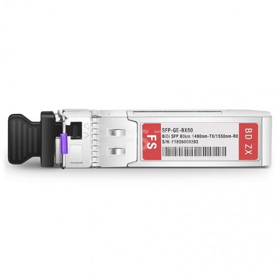 思科(Cisco)兼容GLC-BX80-UA-I BiDi SFP千兆单纤双向光模块 1490nm-TX/1550nm-RX 80km