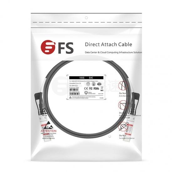 1m 博科(Brocade)兼容100G-Q28-Q28-C-0101 100G QSFP28 无源铜芯高速线缆 30AWG